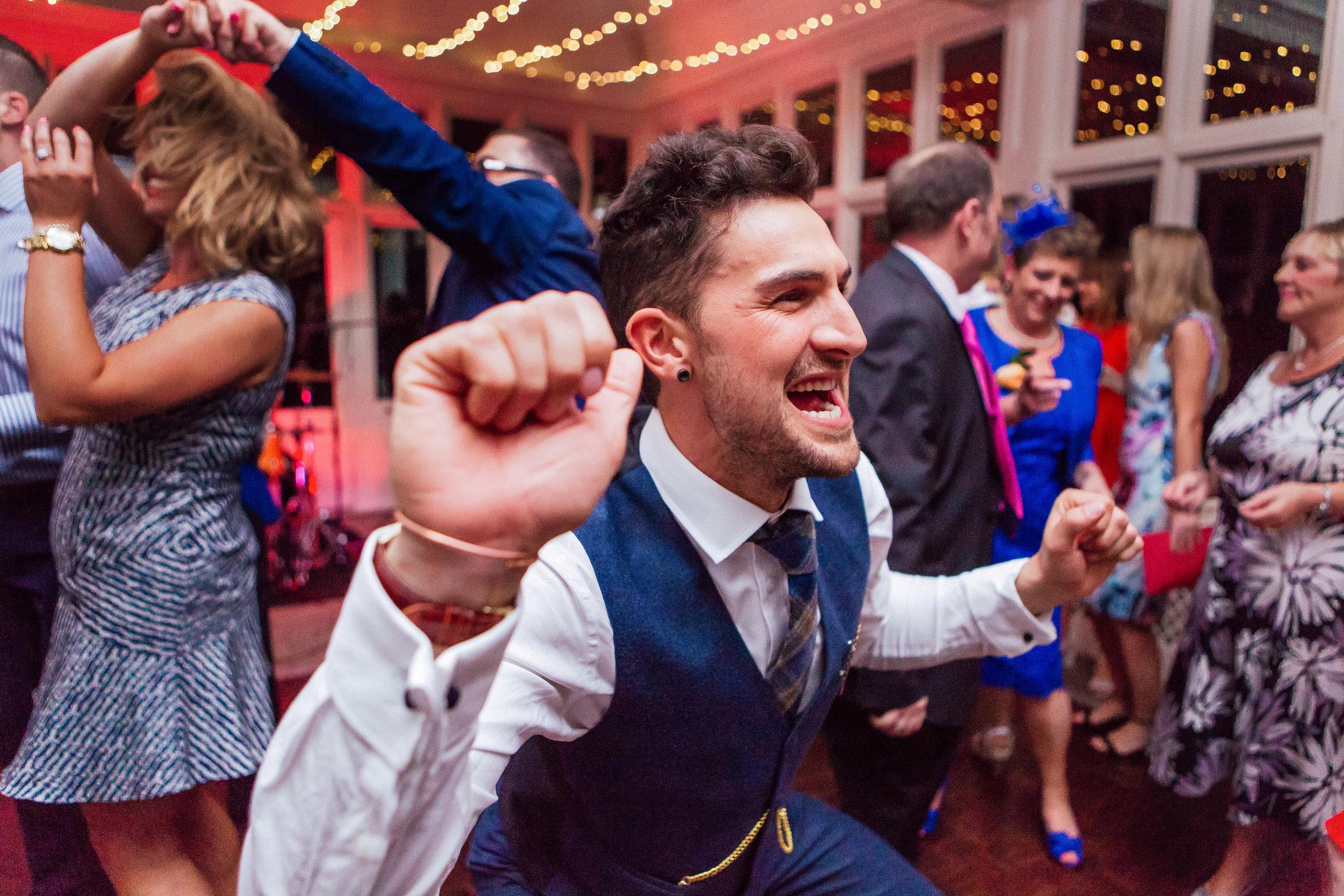 Wedding dancefloor - the elvetham fleet Hampshire - Amy James photography - documentary wedding photographer Hampshire