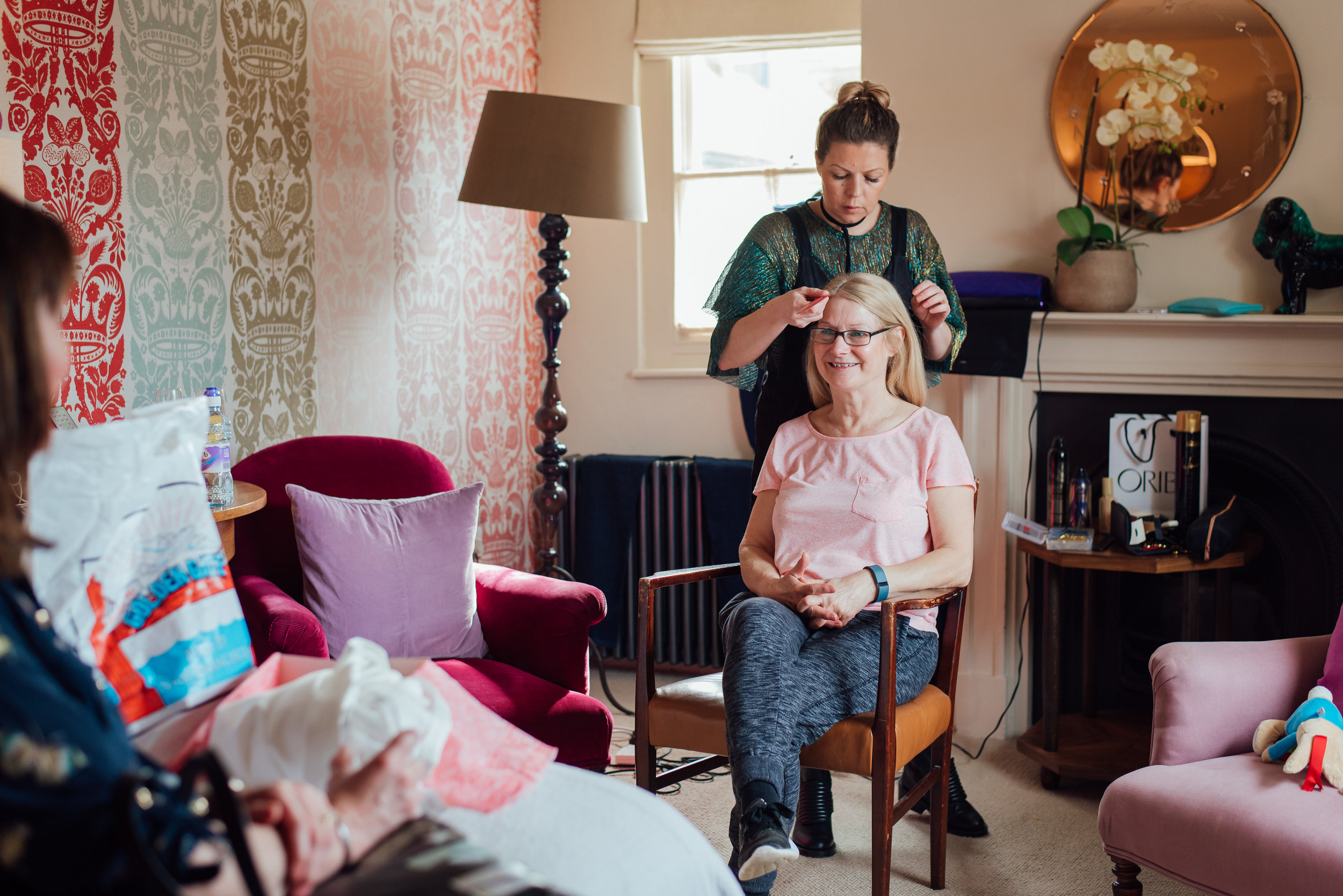 Brides Mum getting ready at the George in Rye Wedding Venue East Sussex by Amy James Photography documentary wedding photographer Hampshire