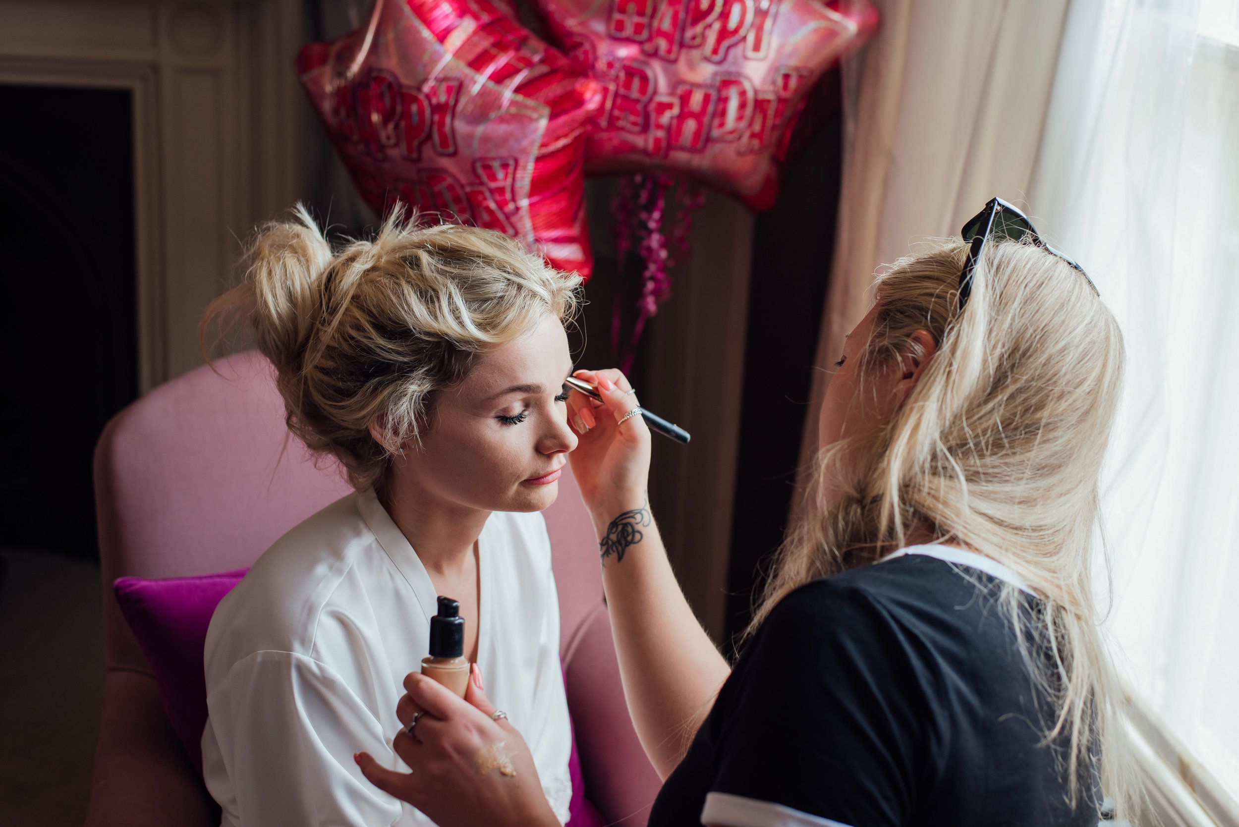Bride getting ready photo at The George In Rye Wedding Venue East Sussex by Amy James Photography documentary wedding photographer for Hampshire Surrey and Dorset