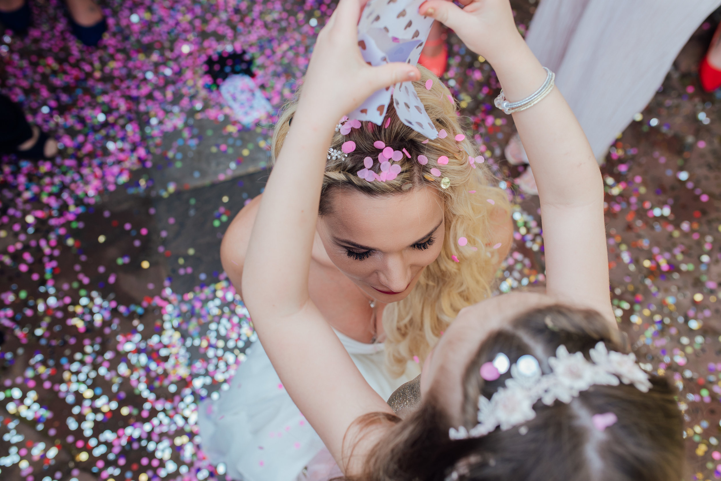 Colourful confetti at The George In Rye Wedding Venue by Amy James Photography Hampshire Wedding Photographer - Surrey and Berkshire wedding photographer