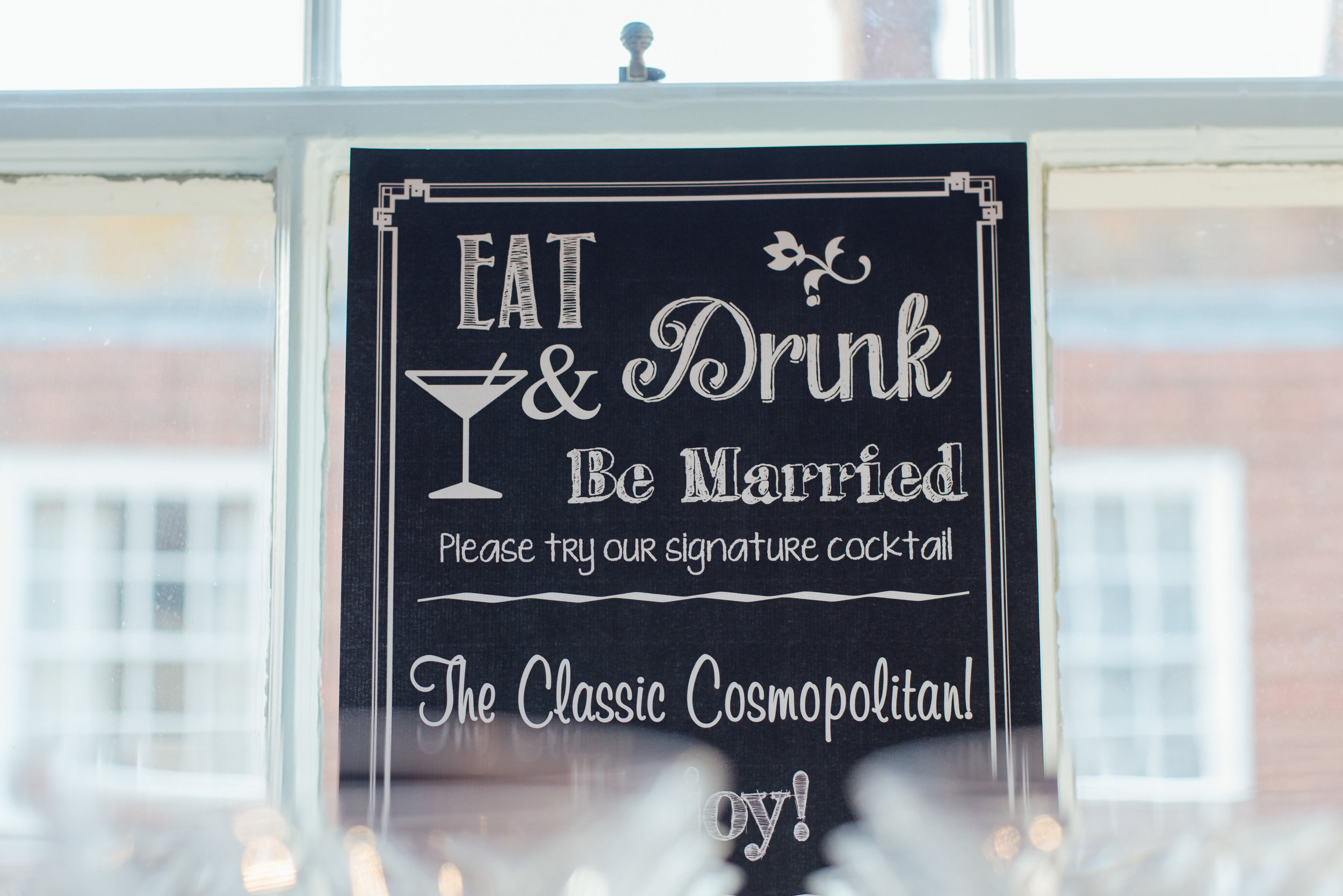 Wedding chalkboard sign at The George in Rye by Amy James Photography