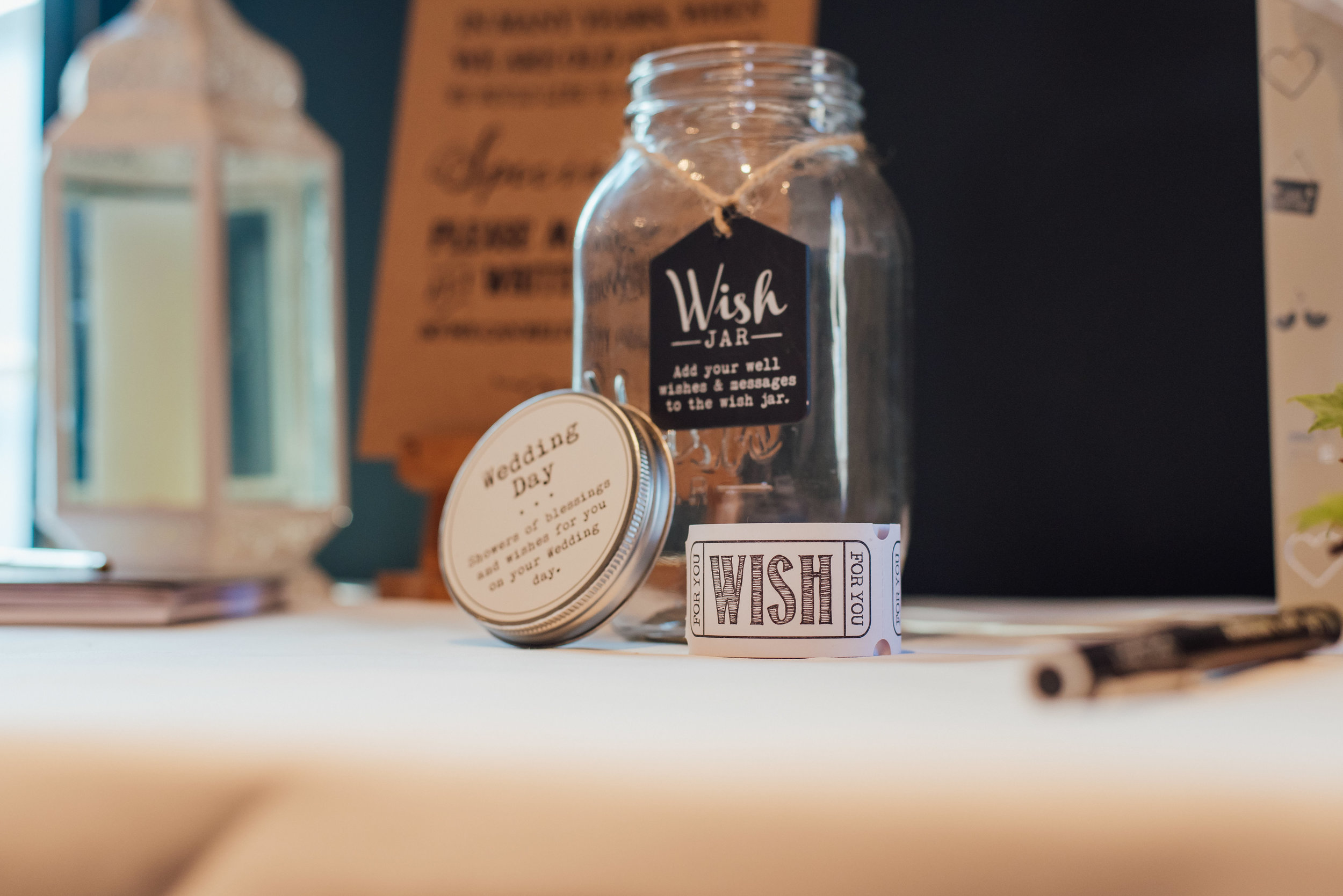wedding wish jar at the George in rye by Amy James photography