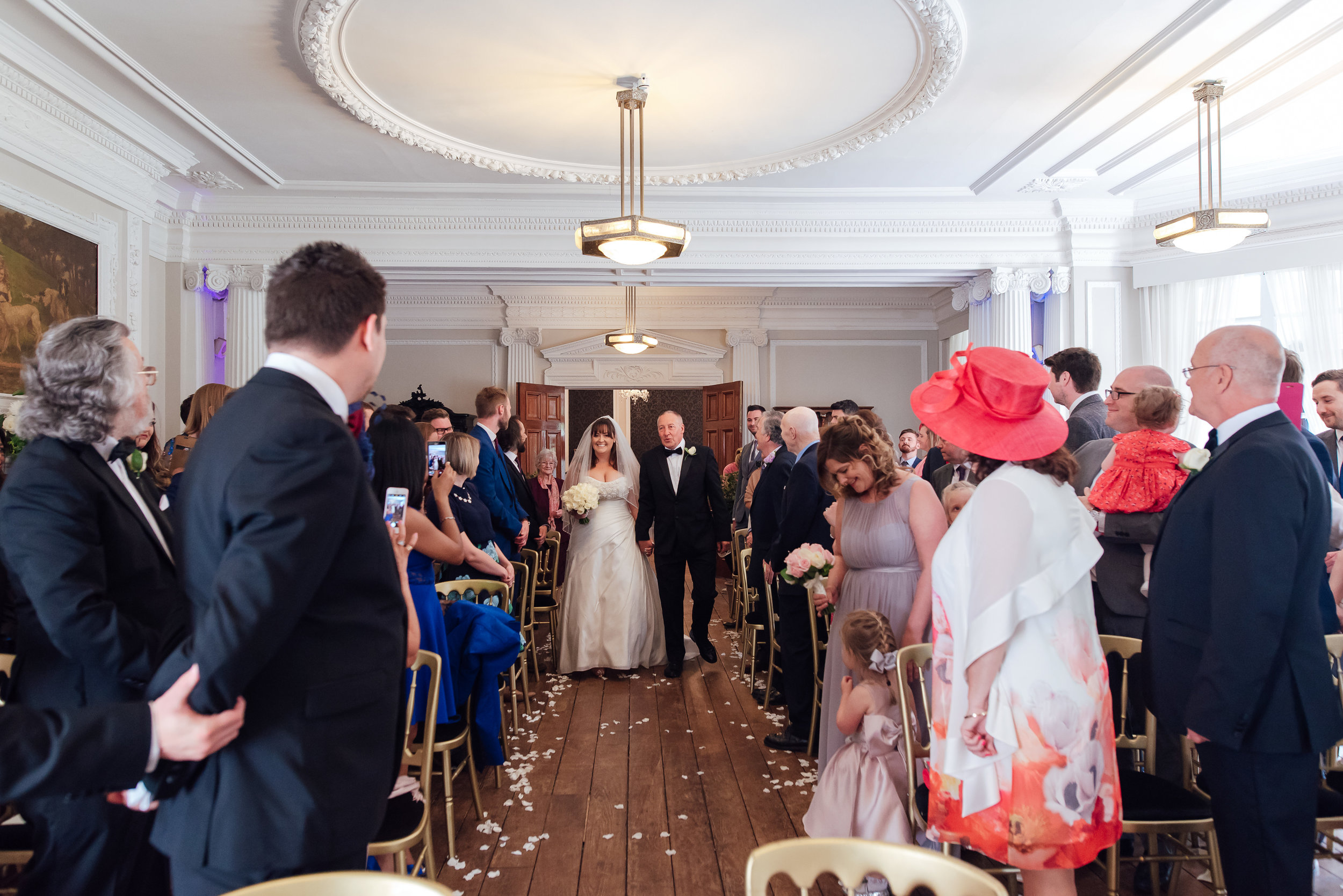 Wedding ceremony at Heatherden Hall Pinewood Studios - Amy James Photography - Wedding photographer Hampshire