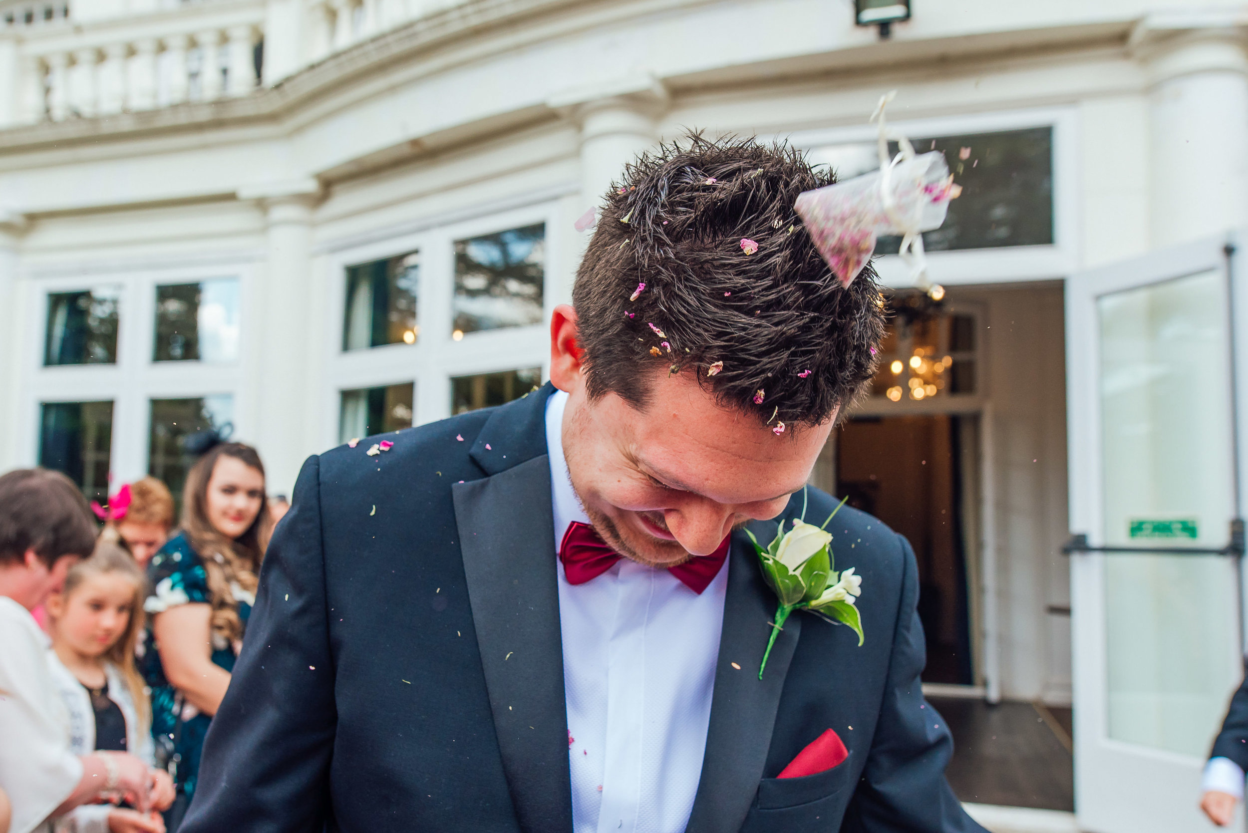 Confetti at Heatherden Hall Wedding Amy James Photography - Wedding photographer Hampshire Surrey and Berkshire