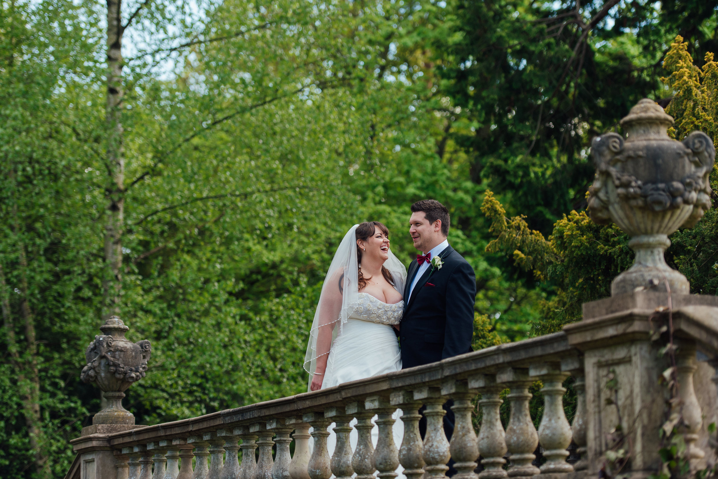 Bride and Groom at Heatherden Hall Wedding at Pinewood Studios - Amy James photography - Hampshire wedding photographer
