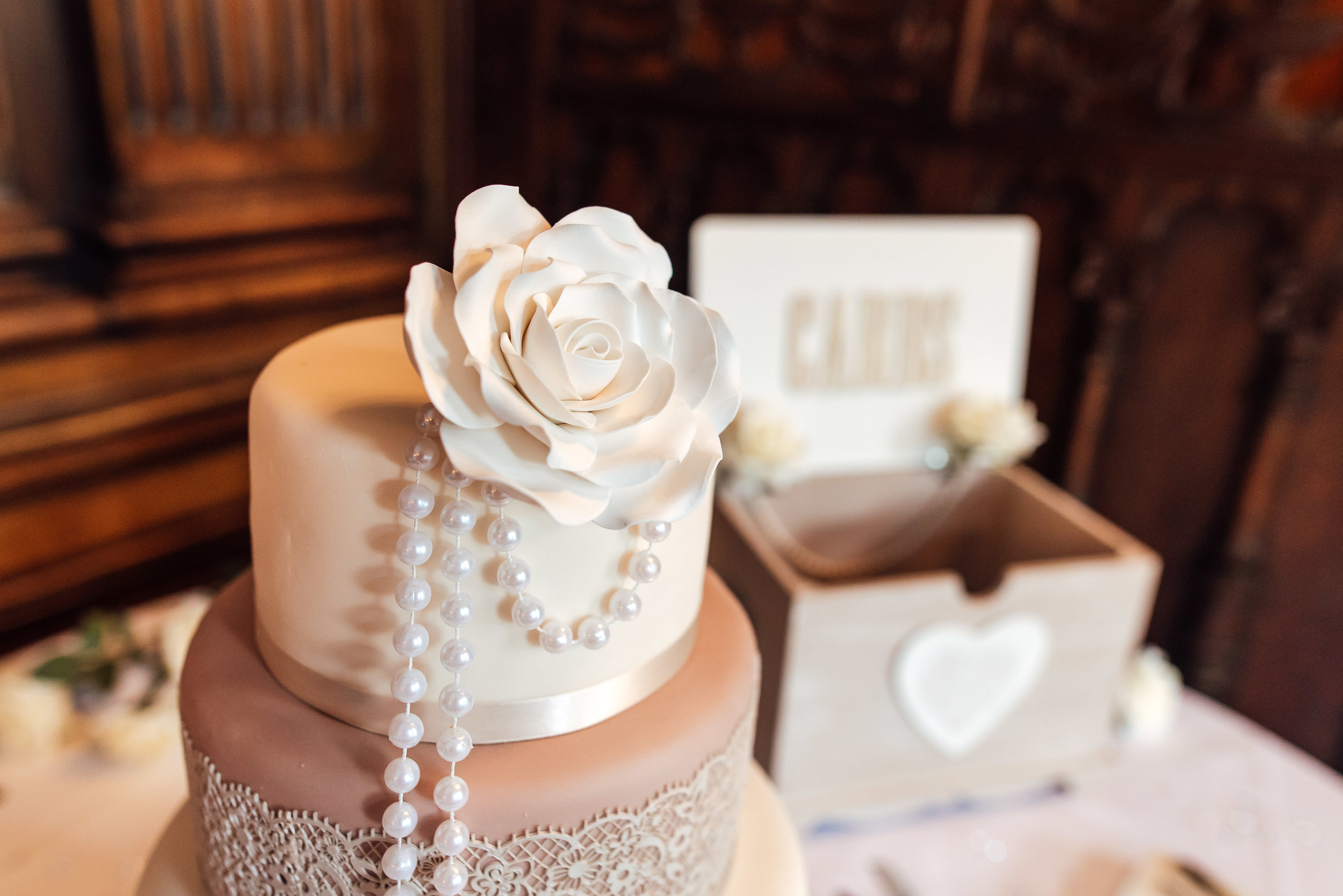 Wedding cake at Heatherden Hall Wedding Pinewood Studios - Amy James photography - Wedding photographer Hampshire Surrey and Berkshire