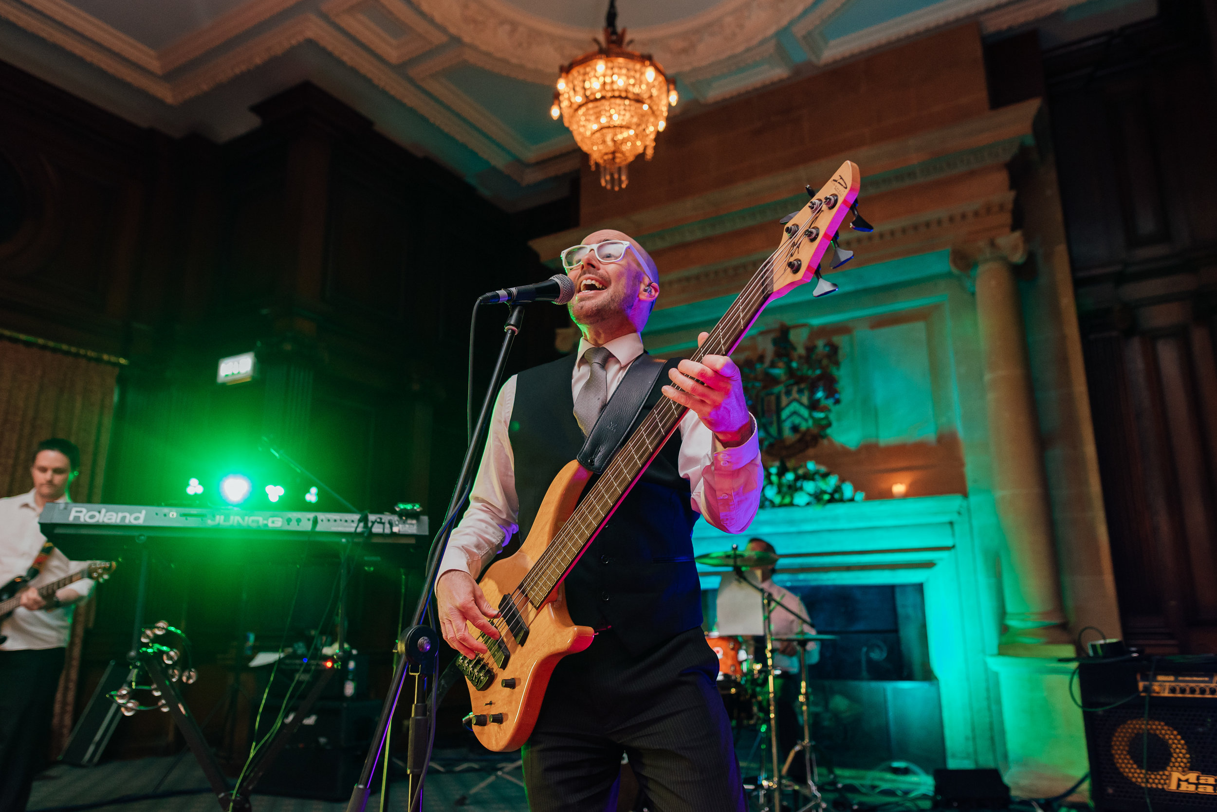 Live band at Heatherden Hall at Pinewood Studios - Amy James Photography