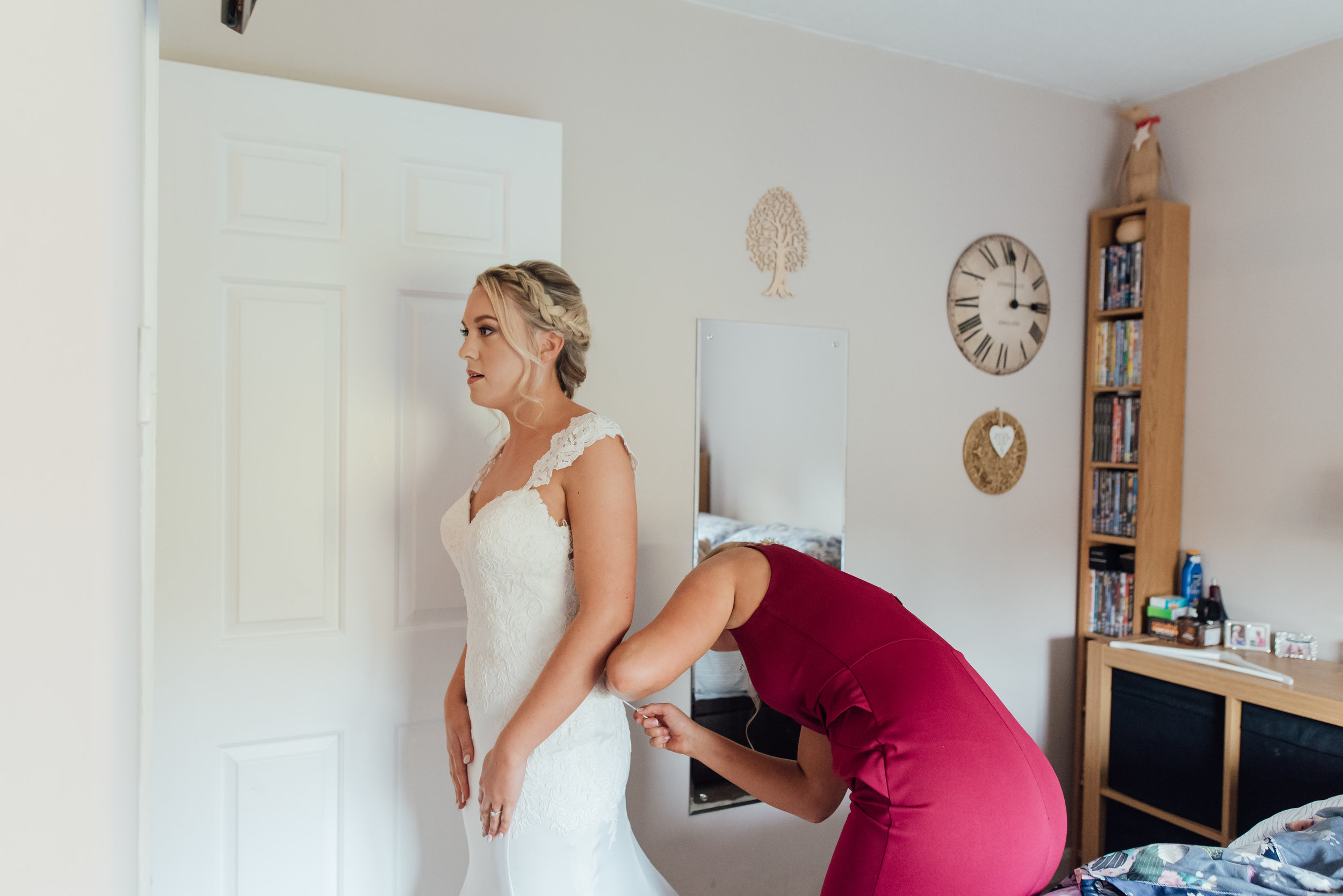 Bride getting ready by Amy James Photography Hampshire Wedding Photographer Hampshire