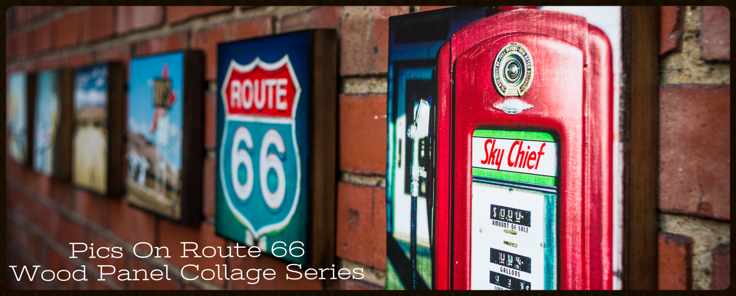 Pics On Route 66 Wood Panel Print Display 1