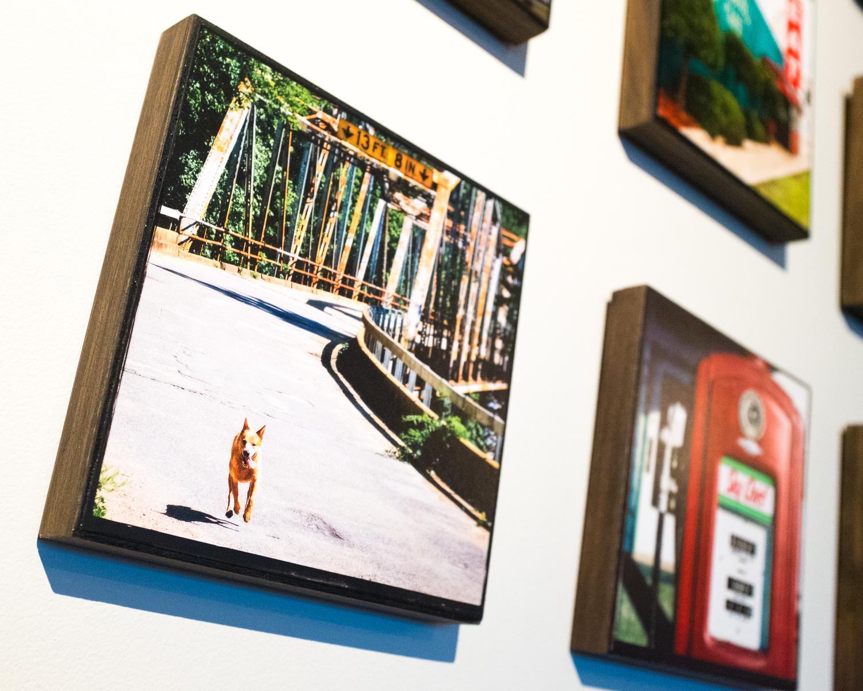 """""""Devil's Elbow Rocket Dog"""" Devil's Elbow Missouri, Route 66 Wood Panel Art Print"""