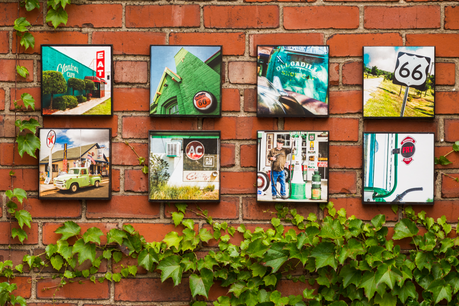 Pics On Route 66 Wood Panel Collage Series On Display June 3rd-5th David Schwartz Photography In Cleveland's Little Italy.