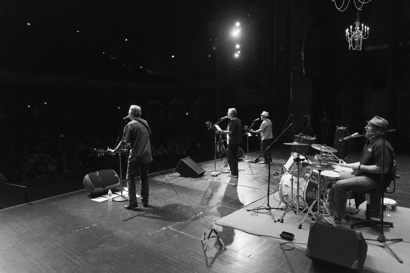 Sidestage view of The Road Crew's Performance at The Rialto.