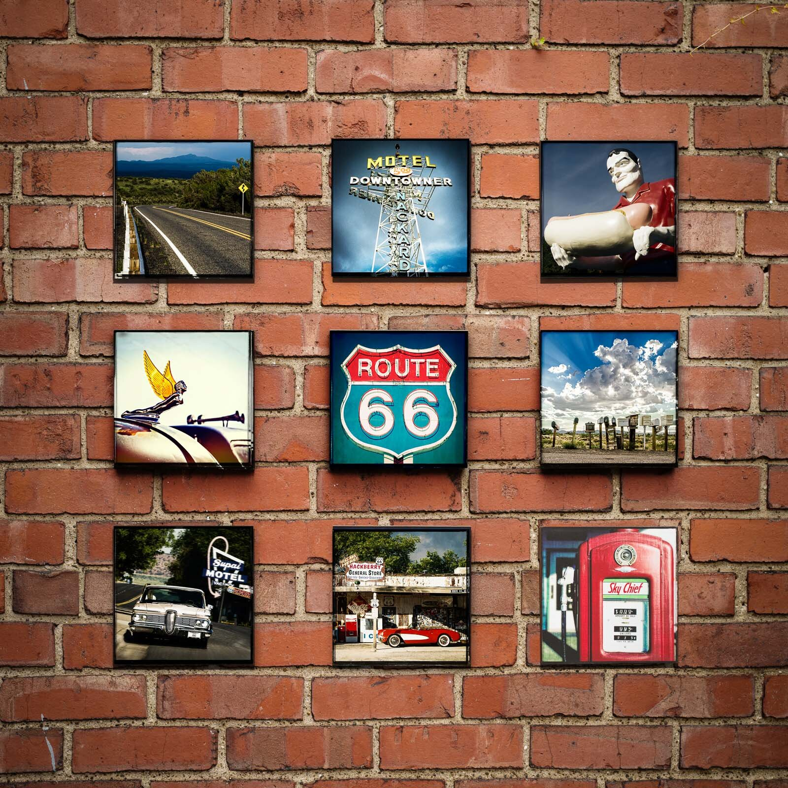 Bicentennial License Plate At Red Oak Ii Br Br 8x8 Wood Panel Print Pics On Route 66