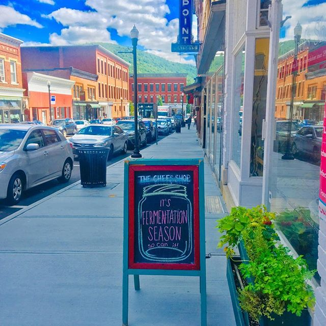 Beautiful afternoon in Railroad Street #greatbarringtonma #shoplocal #harvestseason #berkshiresma #visittheberkshires