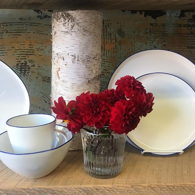 Abbesses rimmed tableware from Canvas Home. #berkshirema #berkshirecooking #thechefsshop #shoplocal