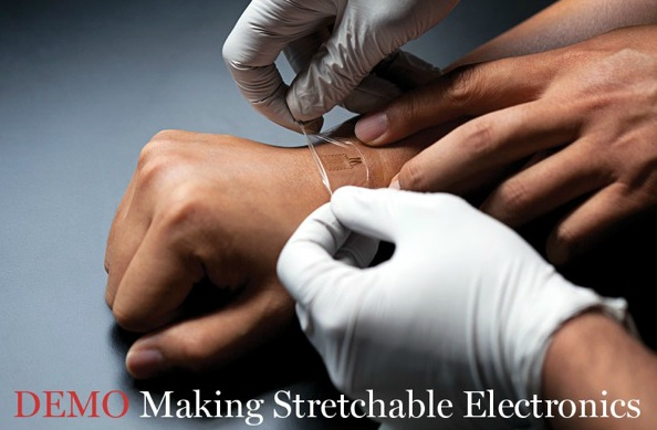 MC10 Demo:  Making Stretchable Electronics