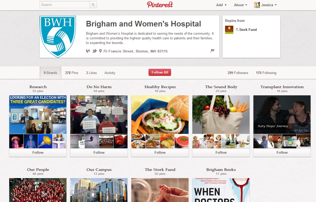 Photo: Brigham and Women's Hospital - Pinterest Page 2012