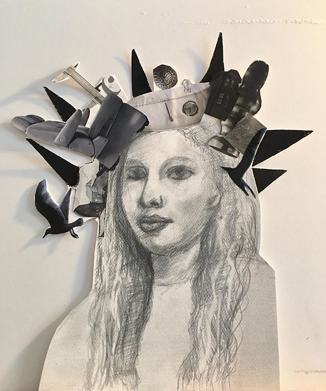 Finished black and white work by our student @lena.loves.cats this is pencil drawing and collage. 🗽🖤🗽 . . . #collage_art  #pencildrawing #bayridgeartspace #ilovedrawing #bayridge #bayridgeart  #privatelesson #drawing #makingart #artclass #paintingclass #brooklynart #bayridgeartspace #artclasses #wip #artsharing #paintingprocess #paintingprogress #arts_help