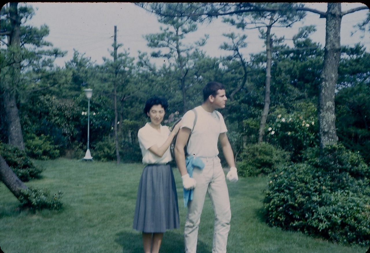 Eric Burton and his host mother - 1965