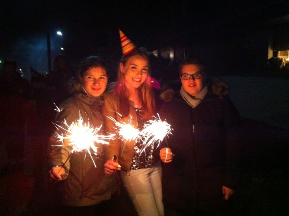 Frohes Neues! Celebrating Silvester with fireworks and friends.