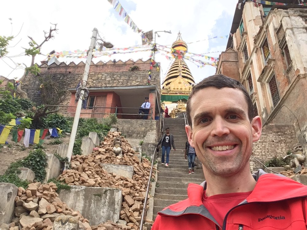 Post-earthquake reconstruction has been a slow process at some Nepali landmarks, like the famous Monkey Temple