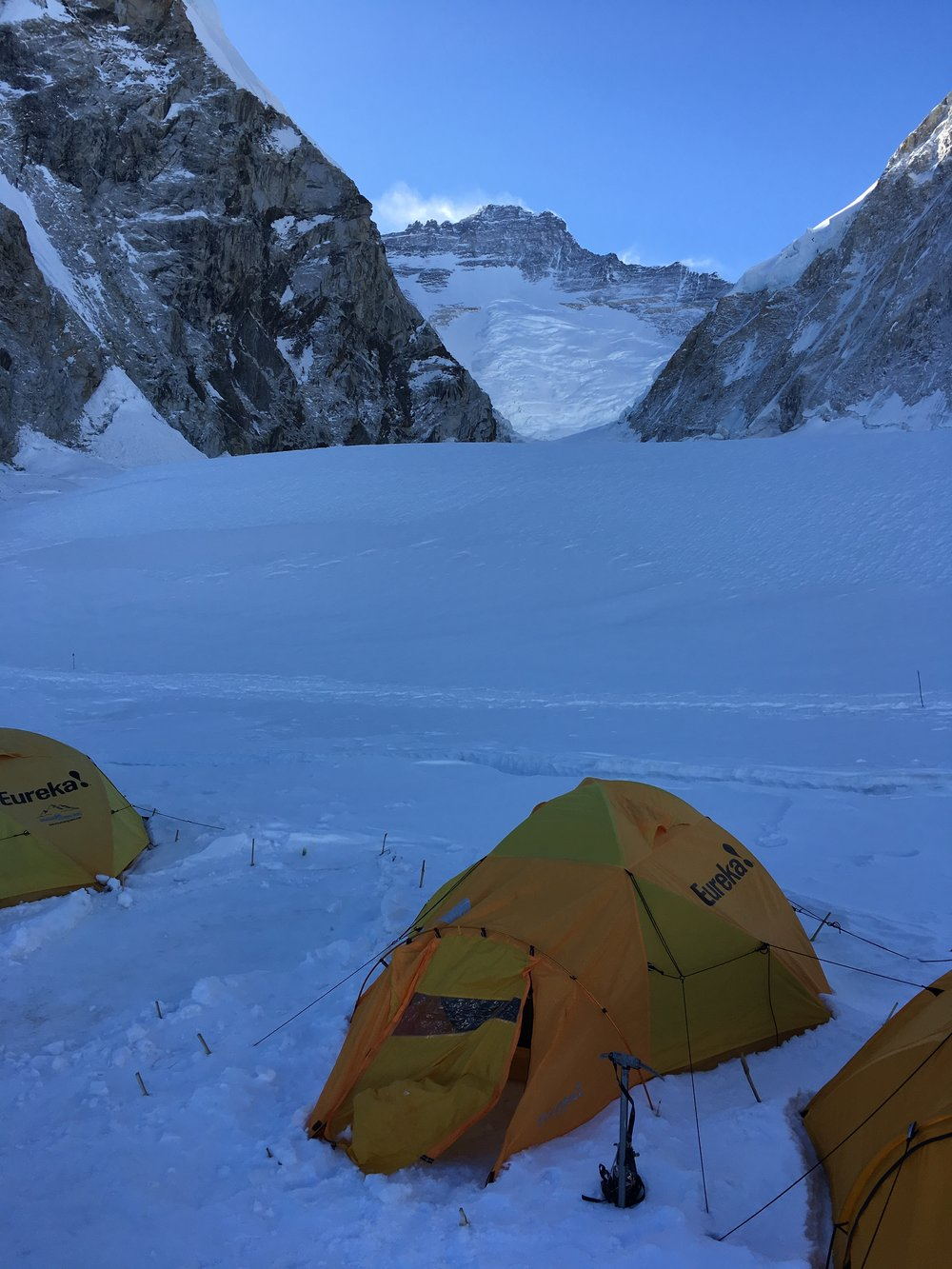 Camp 1 with Lhotse in the background