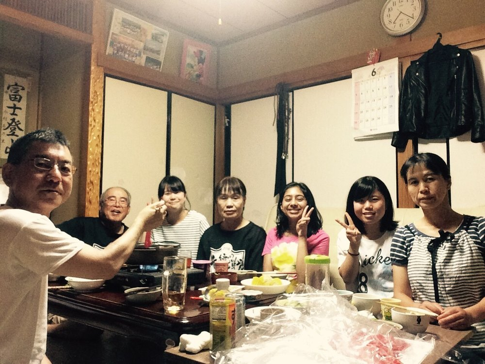 Hotpot with my host family (the first time all seven of us gathered for dinner, so a very special moment)