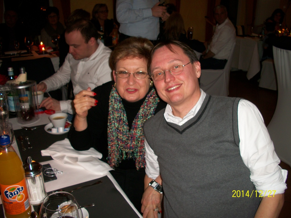 McCutcheon with her host cousin Dirk who plans to visit the US in 2016