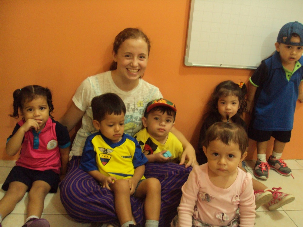 The school year on the coast of Ecuador runs from February to May so during the break YFU requires students to complete volunteer hours. I did mine at a daycare center in a classroom with children ages one to three years old. It was one of the most fun parts of my exchange; every day the kids made me smile and laugh. I also know a plethora of children's songs in Spanish.