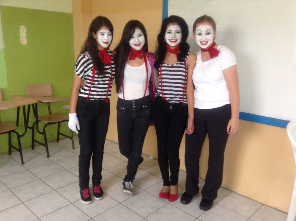 For an art exam, a couple of my friends and I did a presentation as mimes about the day of friendship.