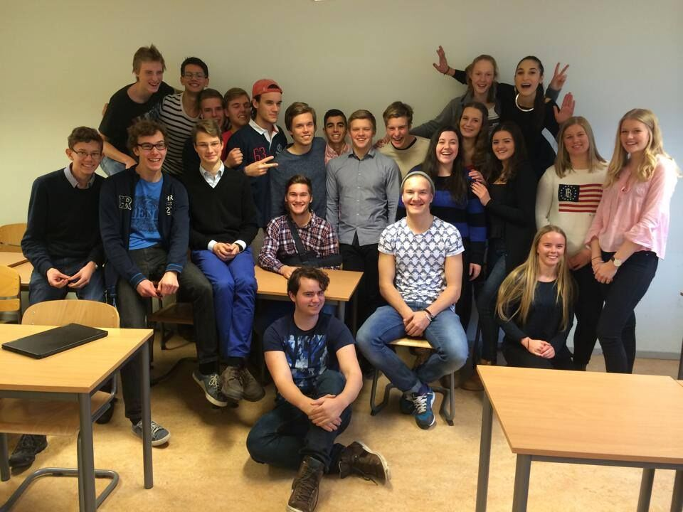 In Sweden, I studied four science classes, a criminal law class, and three languages - wow! My classmates welcomed me with open arms and helped me understand what it was like to live overseas. Thank you for everything, NA13B!