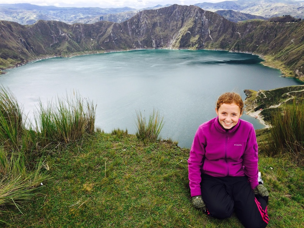 I had the opportunity to take a trip up to the mountains of Ecuador during my school vacation. I went up to Lake Quilotoa, a volcano crater lake at more than 12,000 feet, and then hiked 12 km back to the hotel.