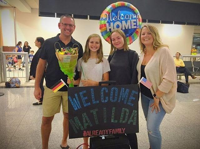 Welcome to Georgia, Matilda 🇩🇪 ➡️ 🇺🇸 Love that hashtag 😎 #AlreadyFamily #WeAreYFU #HostForUnderstanding