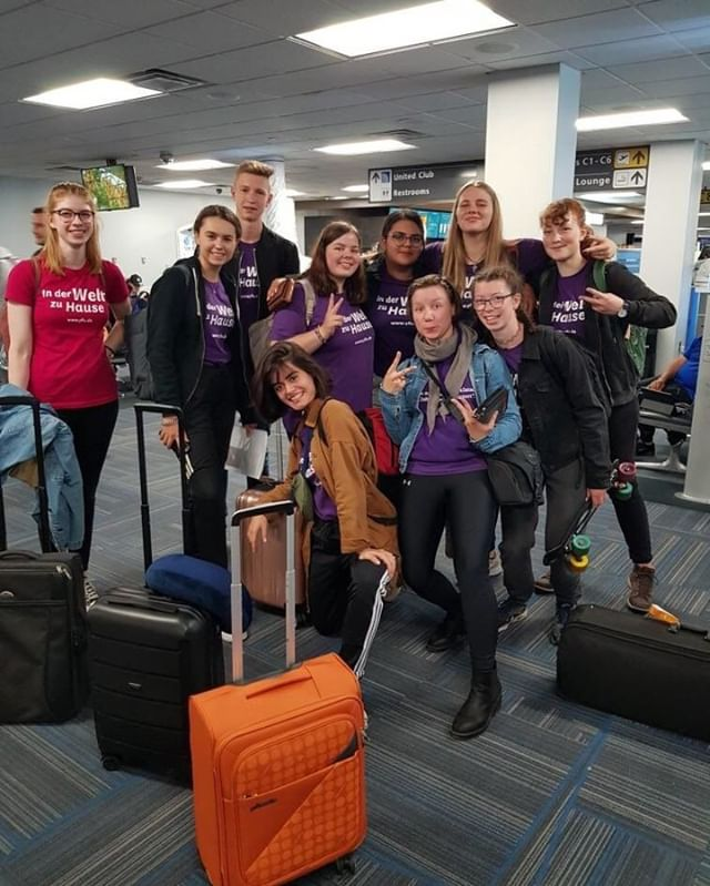The first group of German students have arrived! We hope you all have an amazing exchange year! #WeAreYFU