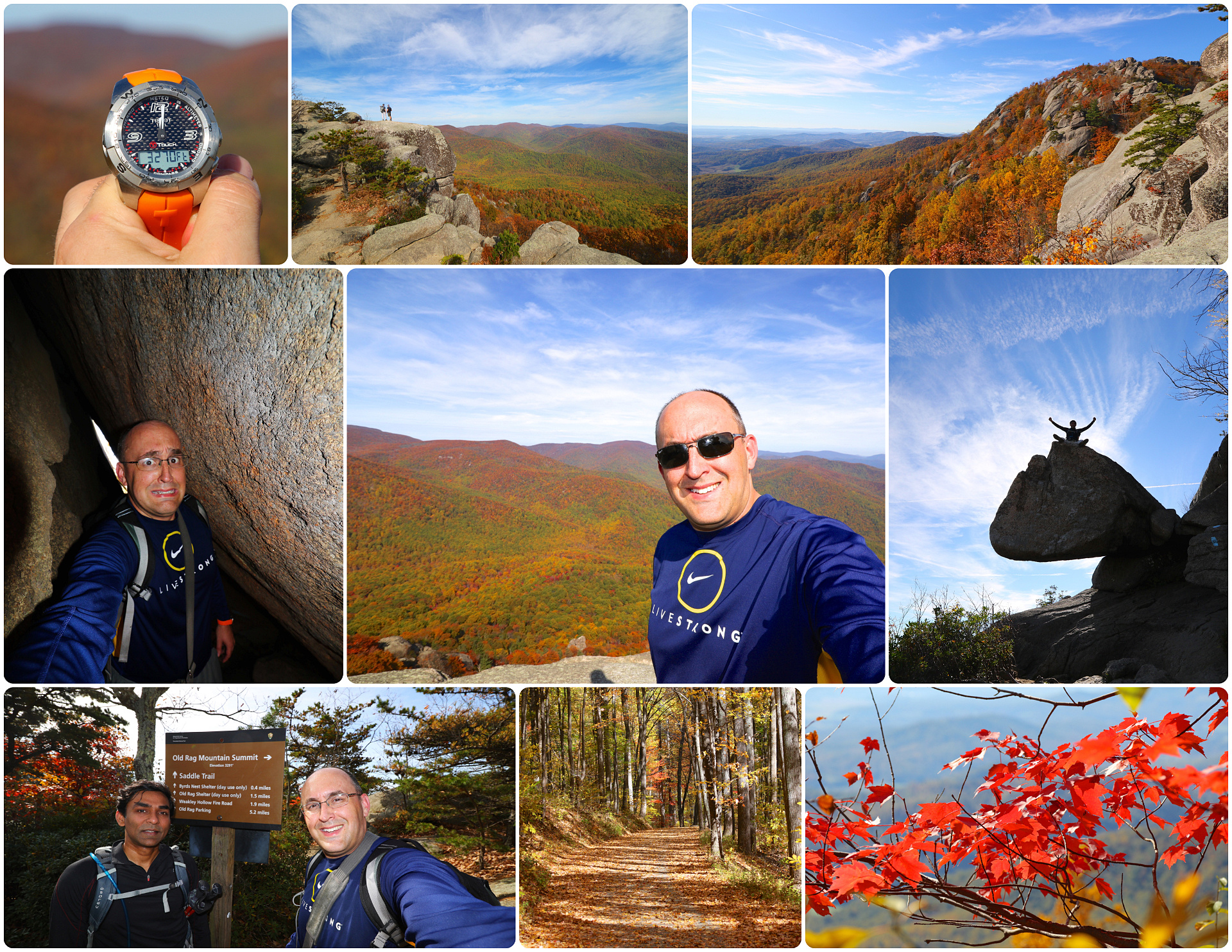 Hiking Old Rag Mountain, October 22nd, 2015