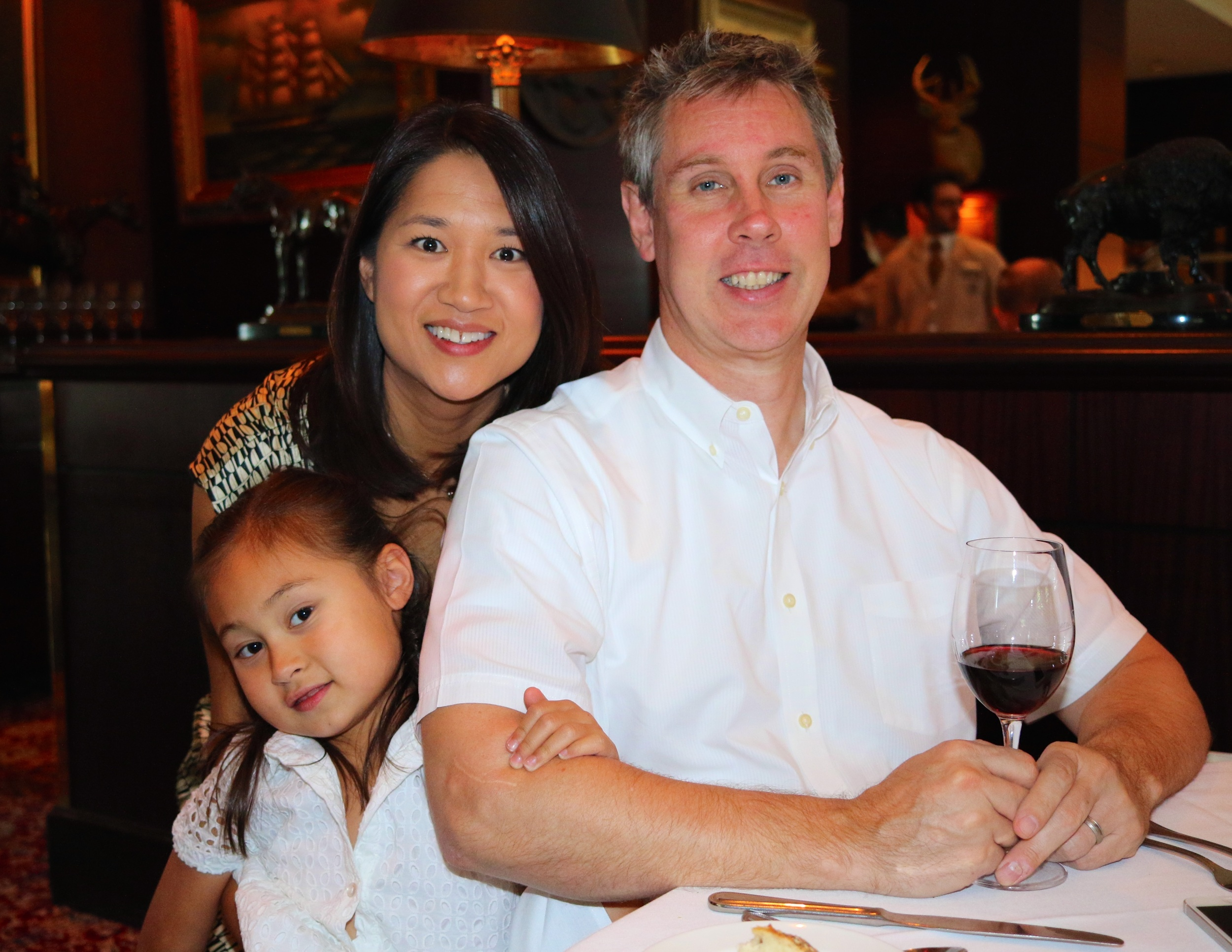 Natalie and Mark Way, and their daughter Josie. Beloved friends, and my second family.