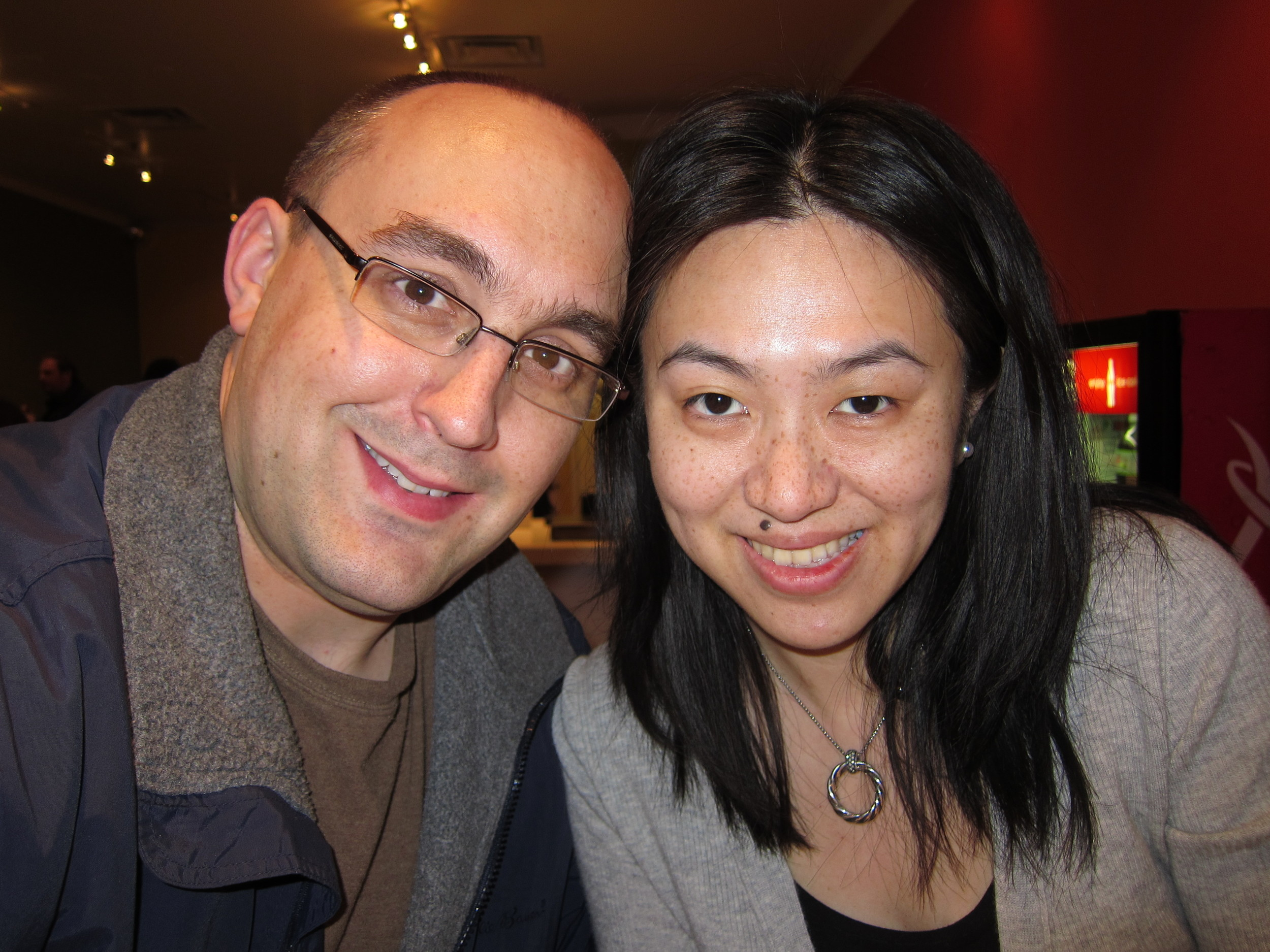 Date night in March 2011, a few days before I was going to start chemotherapy.