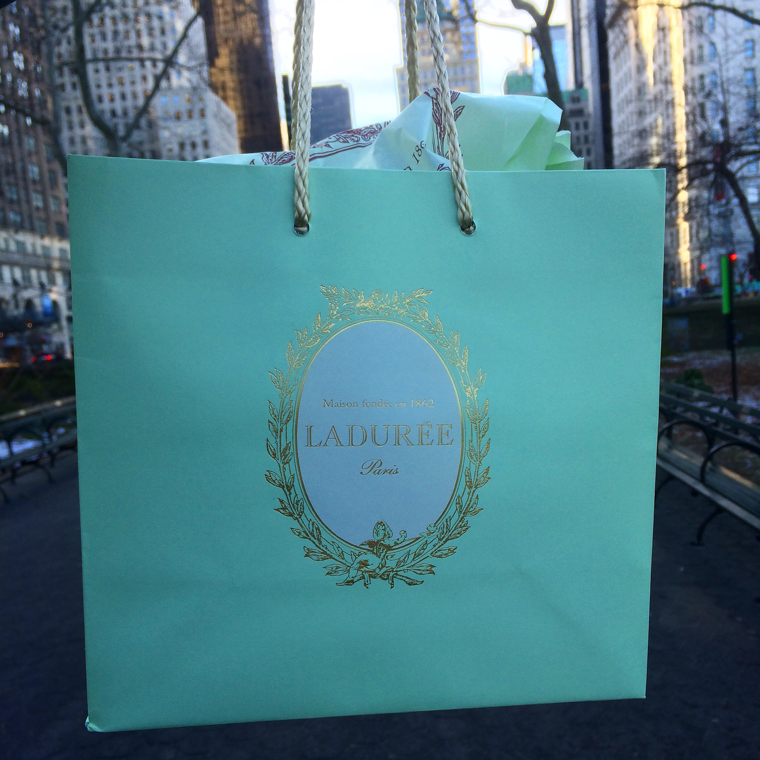 Thou shalt not return from a business trip to NYC without a little something for the misses. :)