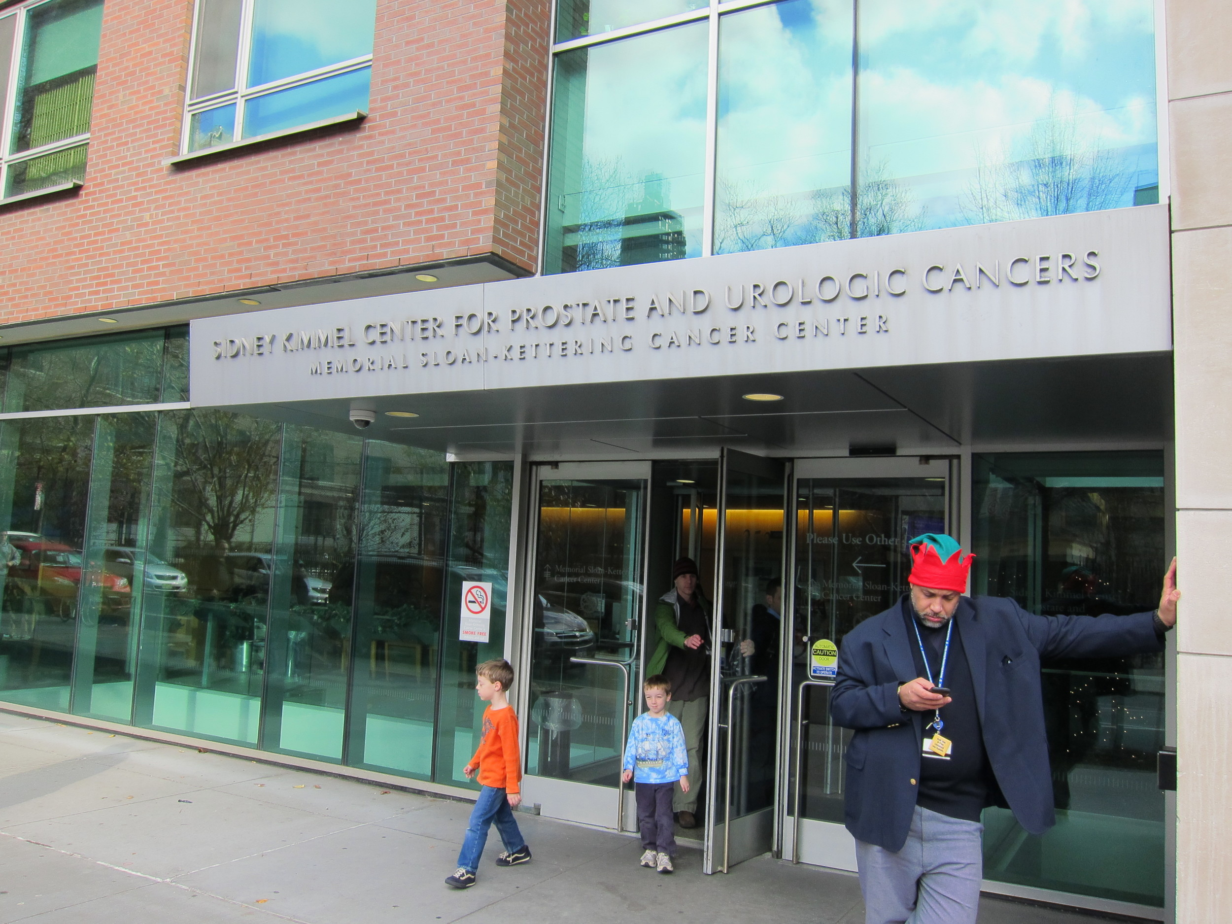 The Sidney Kimmel Center for Prostate and Urological Cancers, part of Memorial Sloan Kettering Cancer Center on E 68th St between 2nd and 3rd Avenues. I've been here a few times. You don't ever want to have to go here.