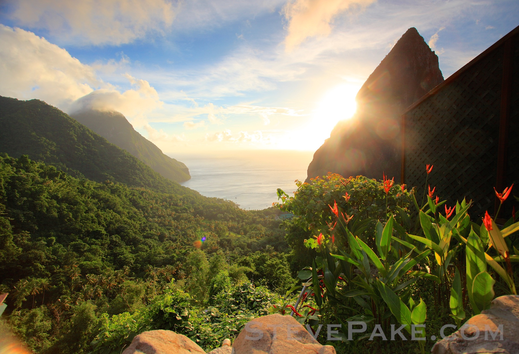 The famous Pitons in St Lucia, from the Ladera Resort. Lighting, Location, and Perspective are certainly in play here as well! The more things that come together in a photo, the more amazing it will be!