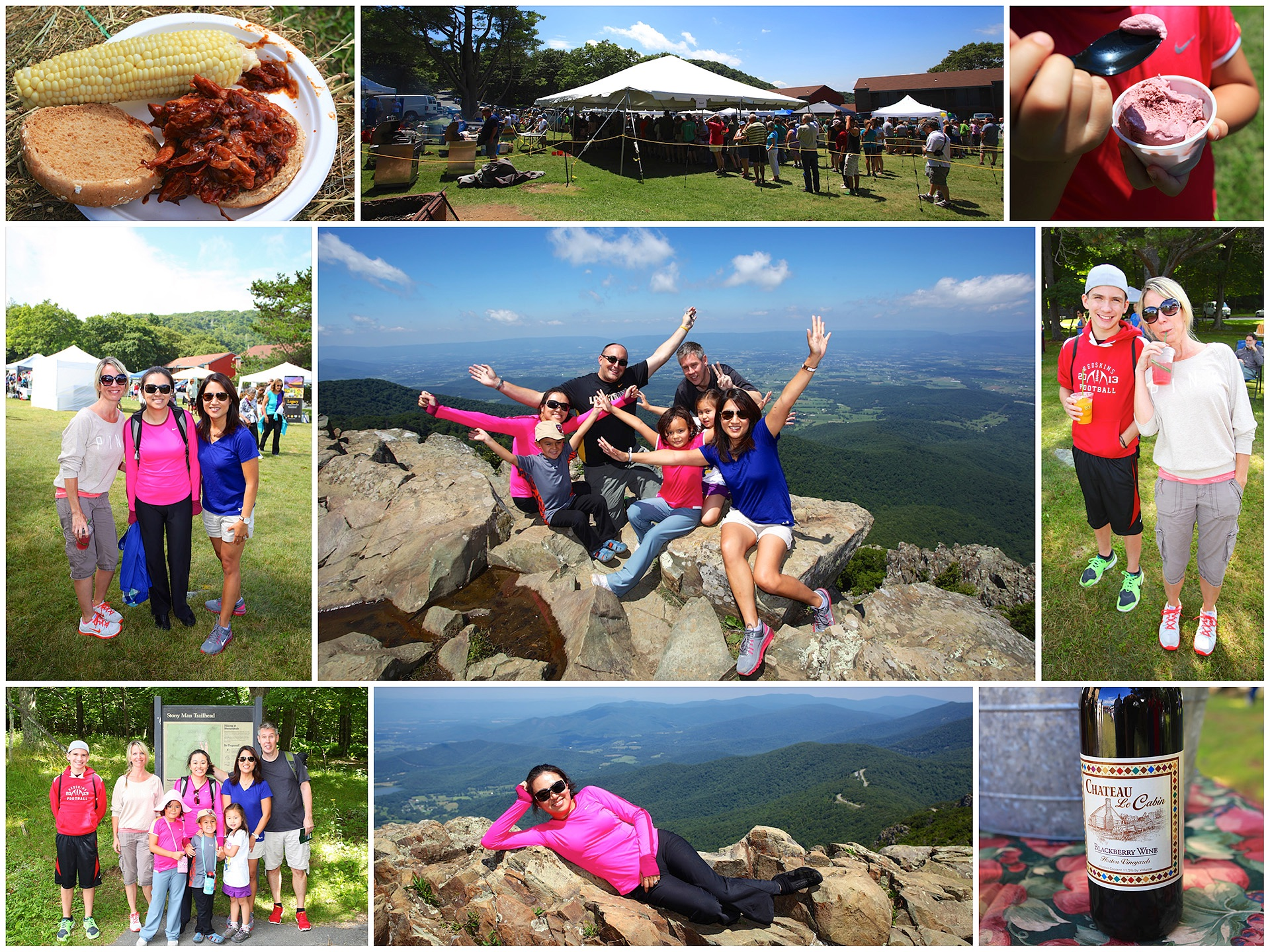 The annual Blackberry Festival at Shenandoah National Park in 2014, with some very near and dear friends.