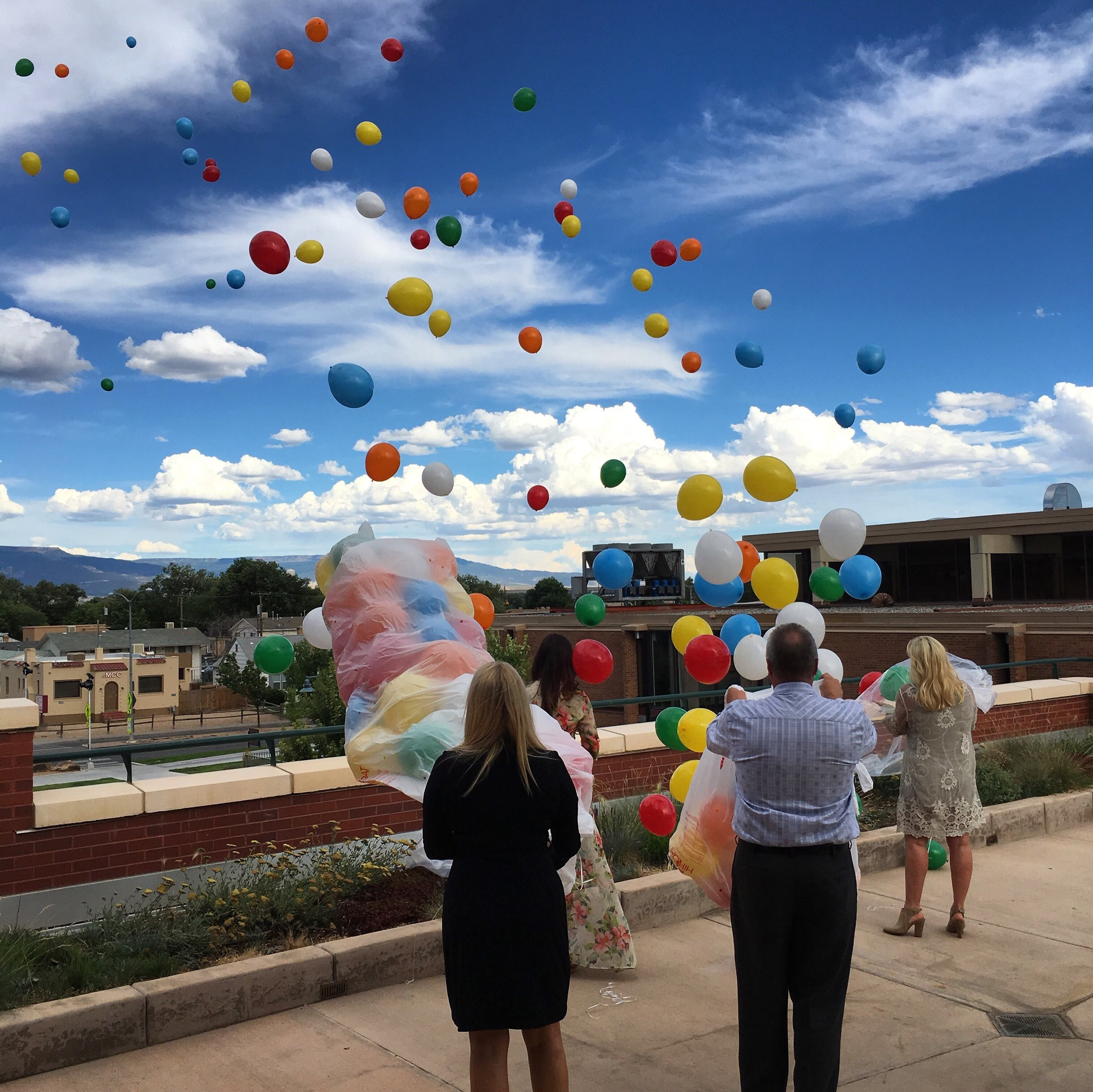 Balloon release at Jordan Jones Celebration of Life on July 8th, 2016, in Grand Junction, CO.