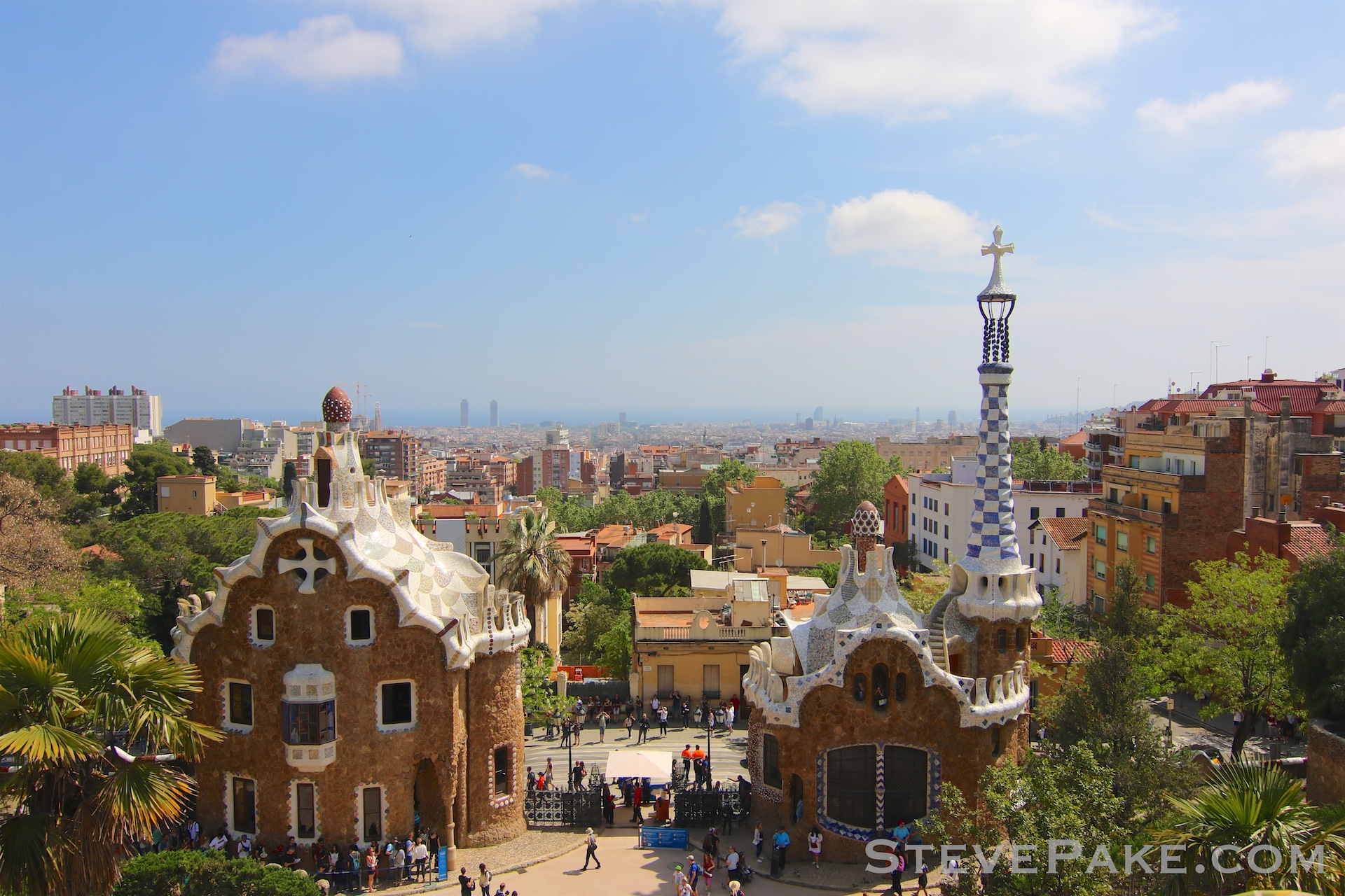 One of many amazing views of the city, from Park Güell.
