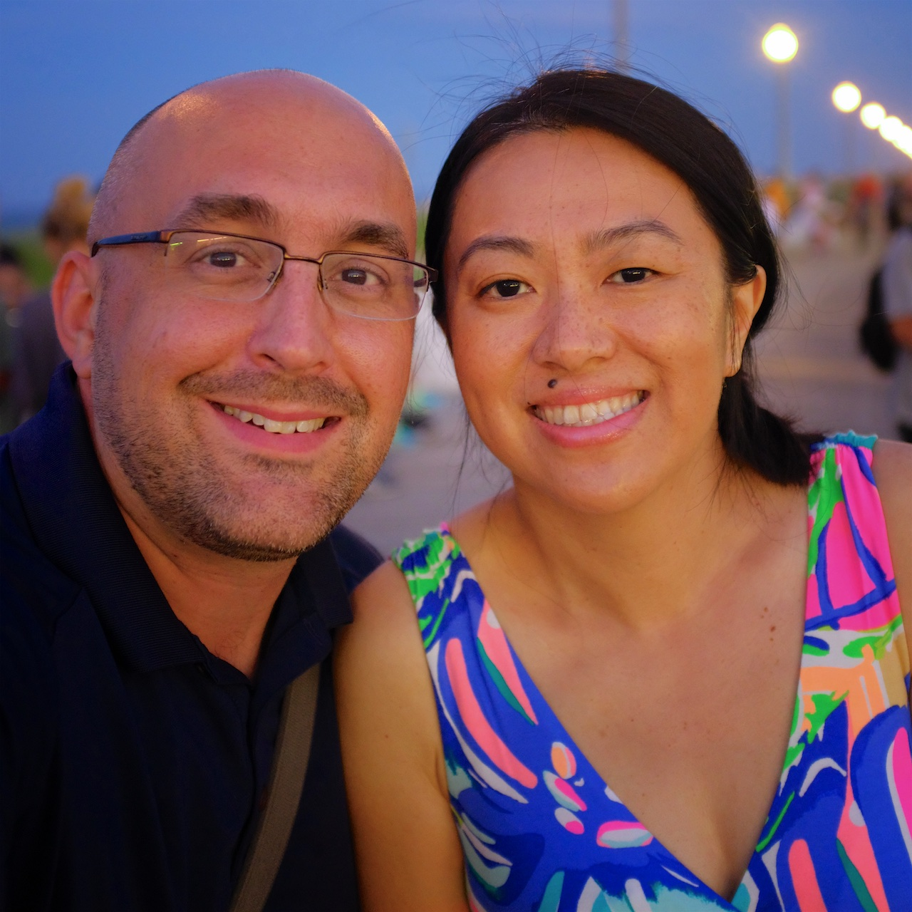 My wife has been through just as much in her own journey as I have in mine, but here we are smiling and hand in hand on the boardwalk at Rehoboth Beach back in June. <3