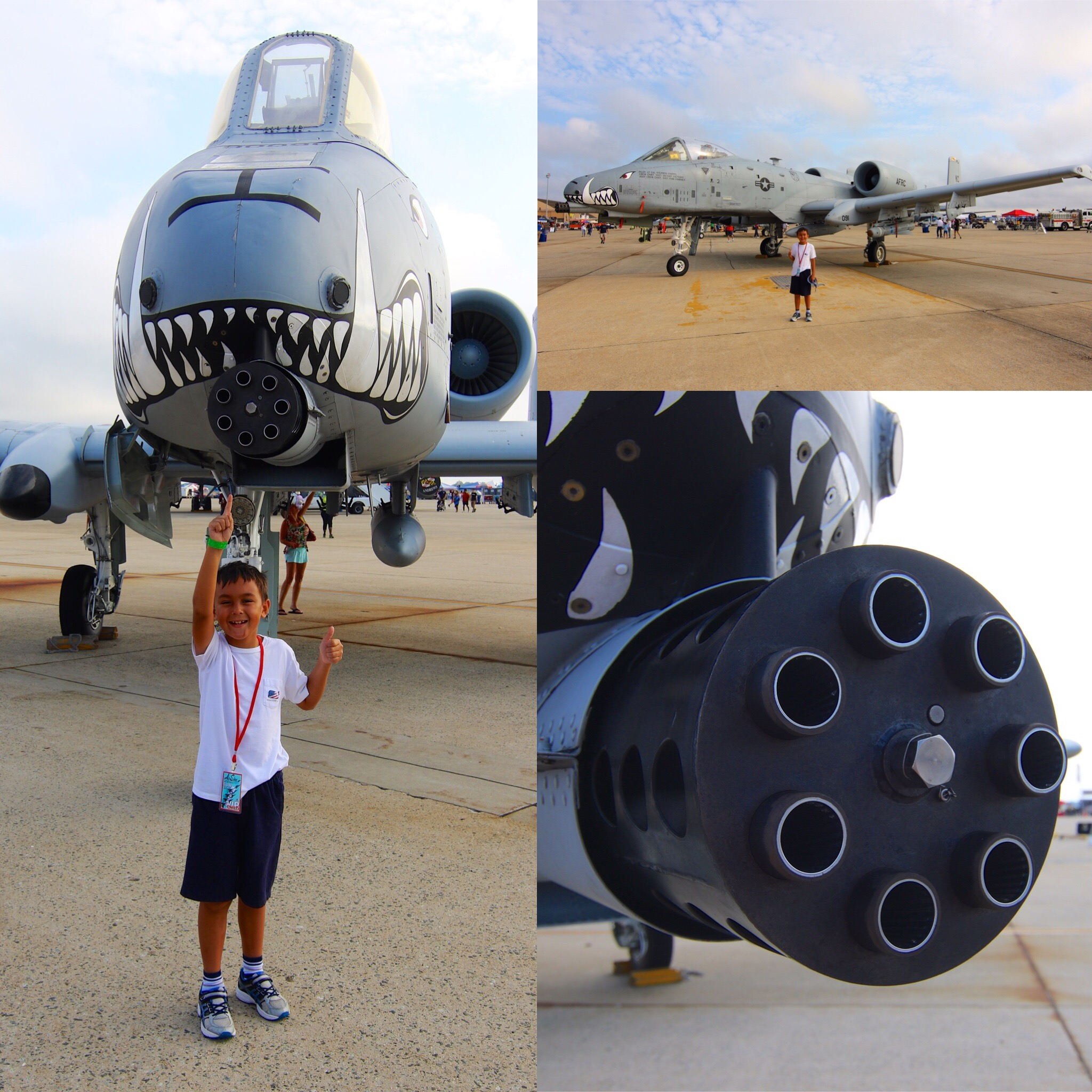 William is pure B-O-Y. His favorite aircraft is the A-10 Warthog, and it's the first one he wanted to see! BRRRRRRTTT!!!!!