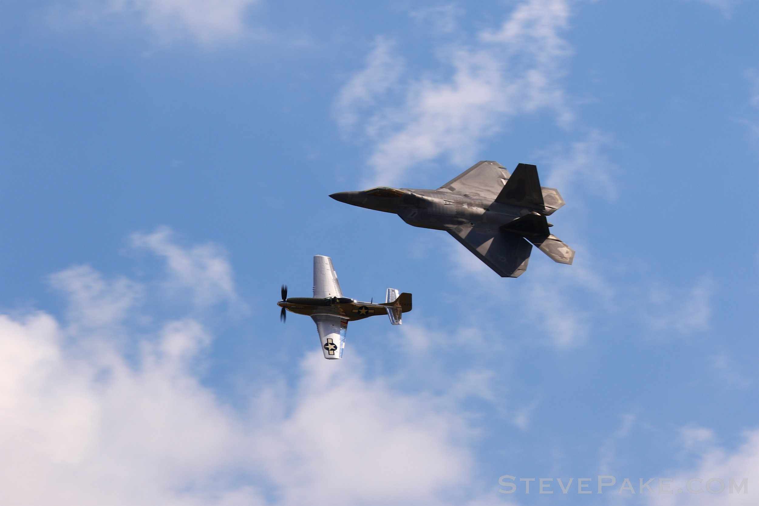P-51 Mustang and F-22 Raptor Heritage Flight