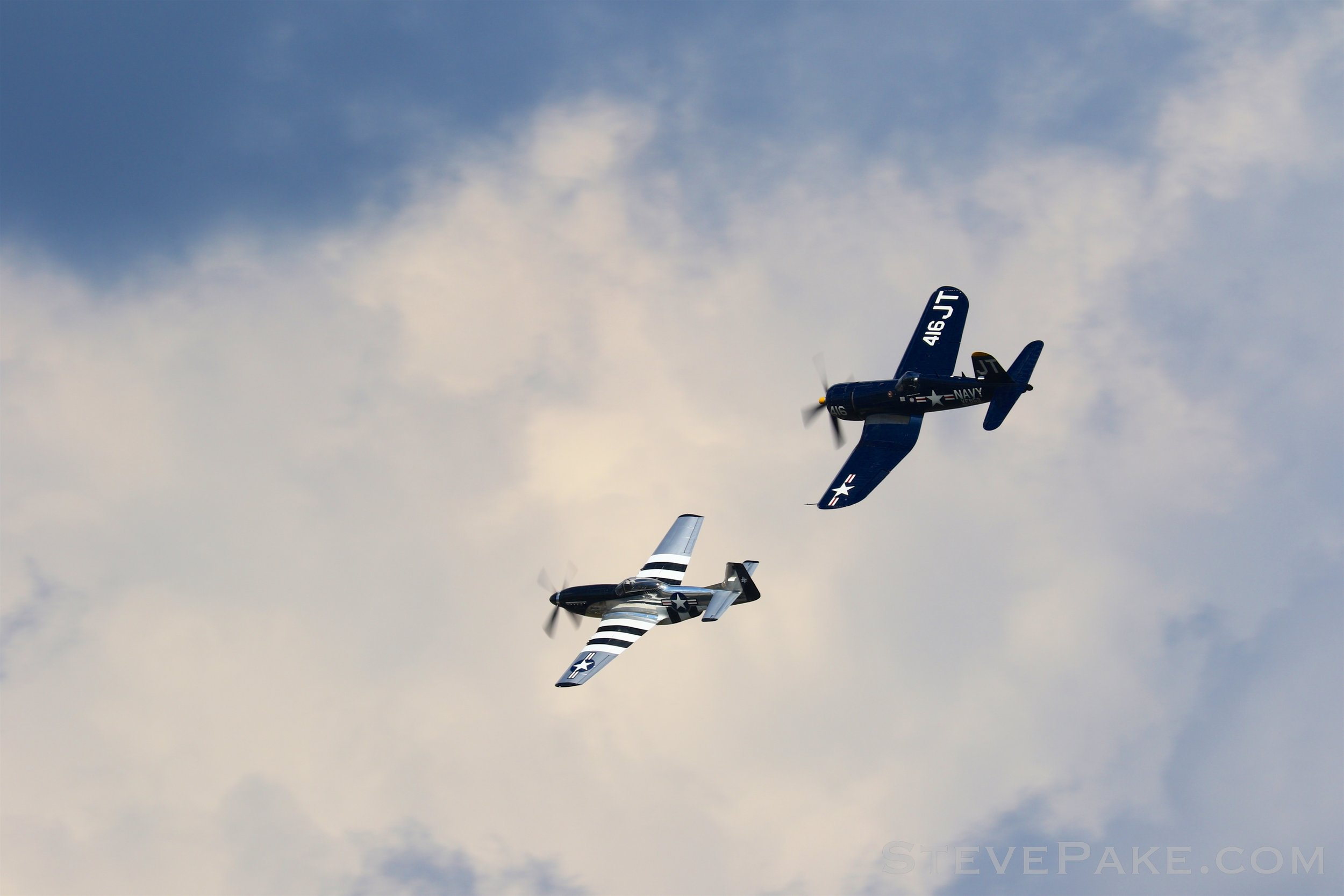 Class of 1945, P-51 Mustang and F4U Corsair
