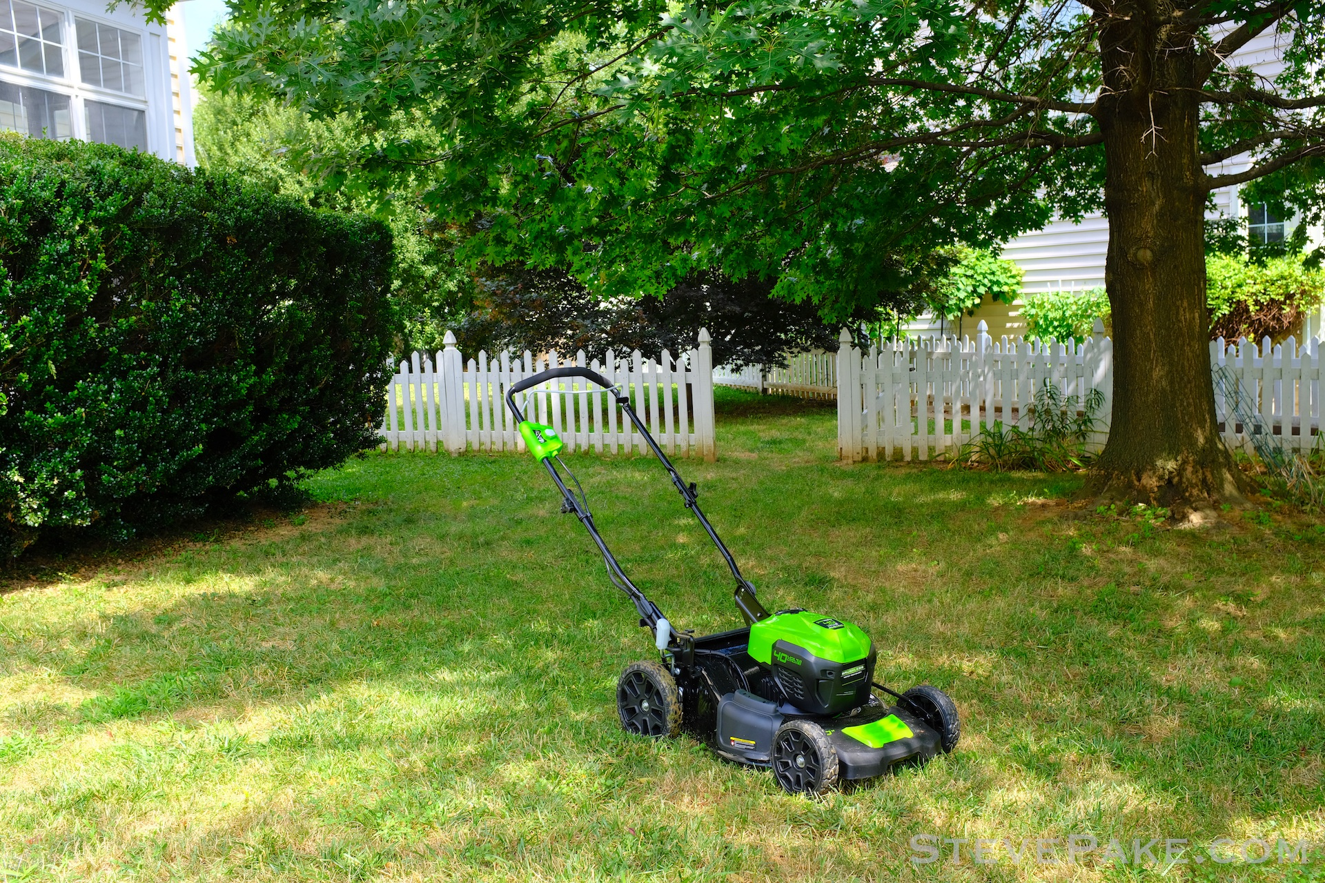 First time mowing with my new electric lawn mower. Branding has been intentionally photoshopped out.There are industry wide shenanigans going on, so the point was not to single out any one manufacturer.