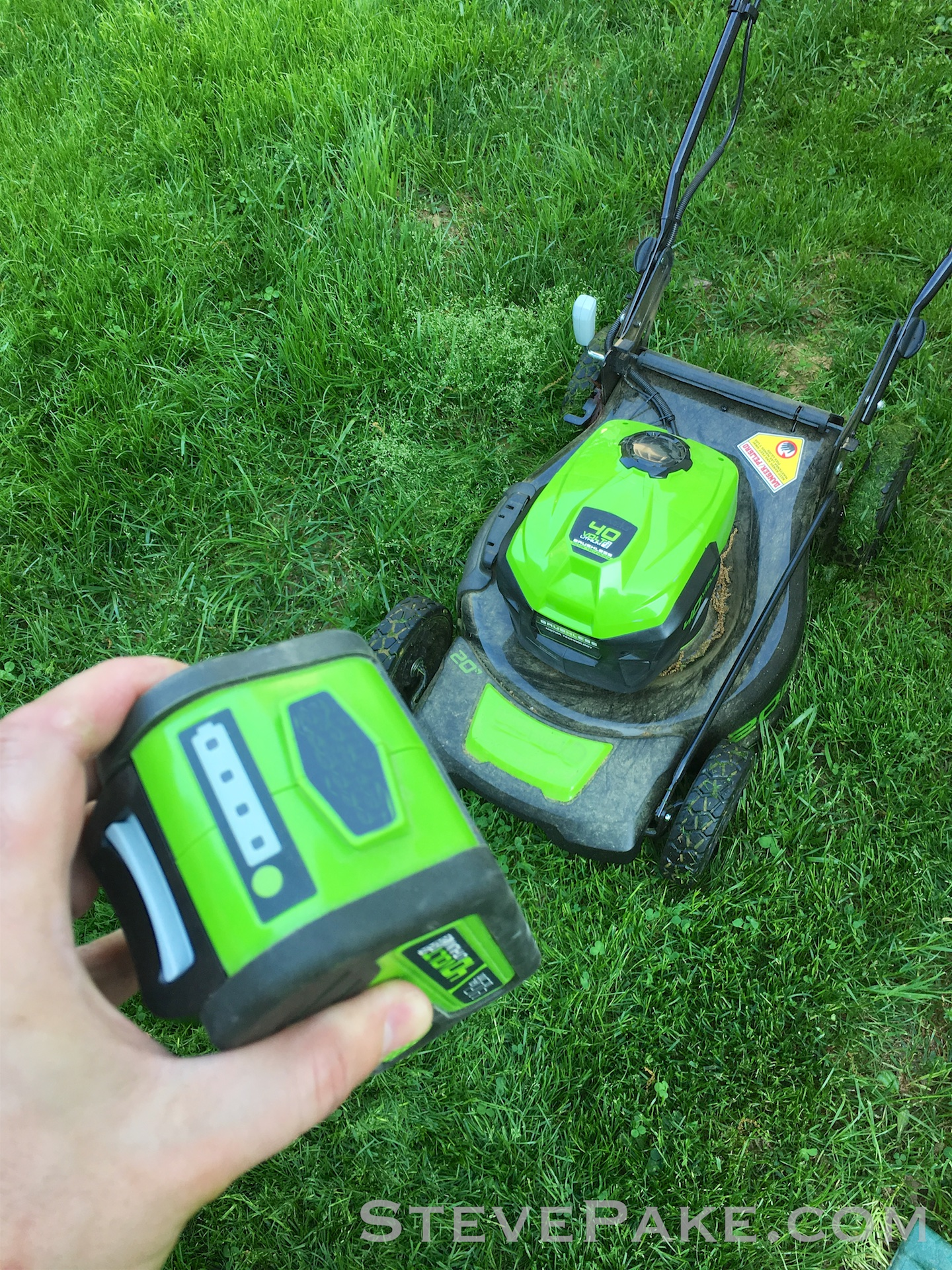 Dead battery and still plenty of lawn to mow! Well ****! >:-(