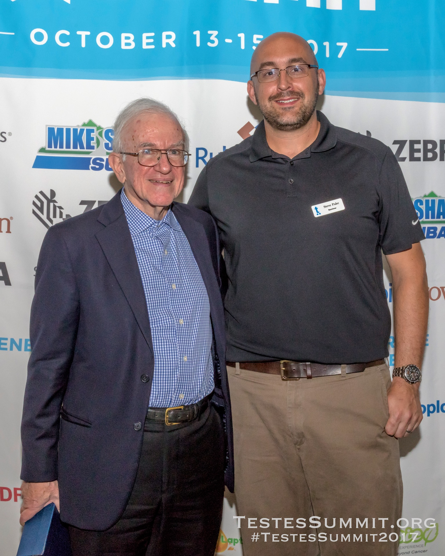 Dr Lawrence Einhorn with Testes Summit Owner/Co-Founder and Chair, Steve Pake